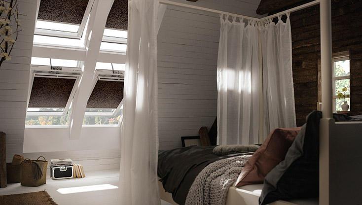 Rolgordijnen Slaapkamer 97 : Houd uw slaapkamer koel met velux buitenzonwering ibs